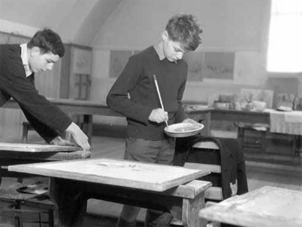 Syd Barrett at Saturday morning art club, Homerton College, 1960